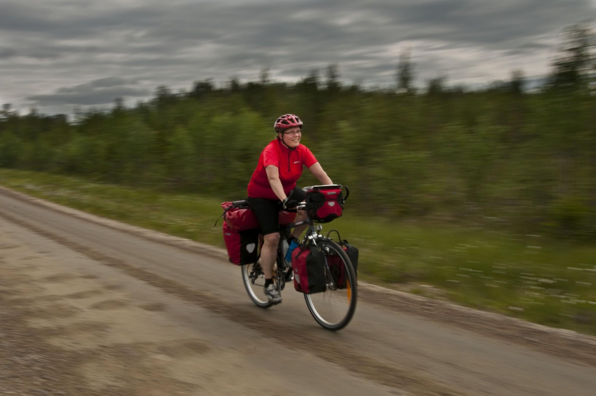 Pyöräilijä Leena