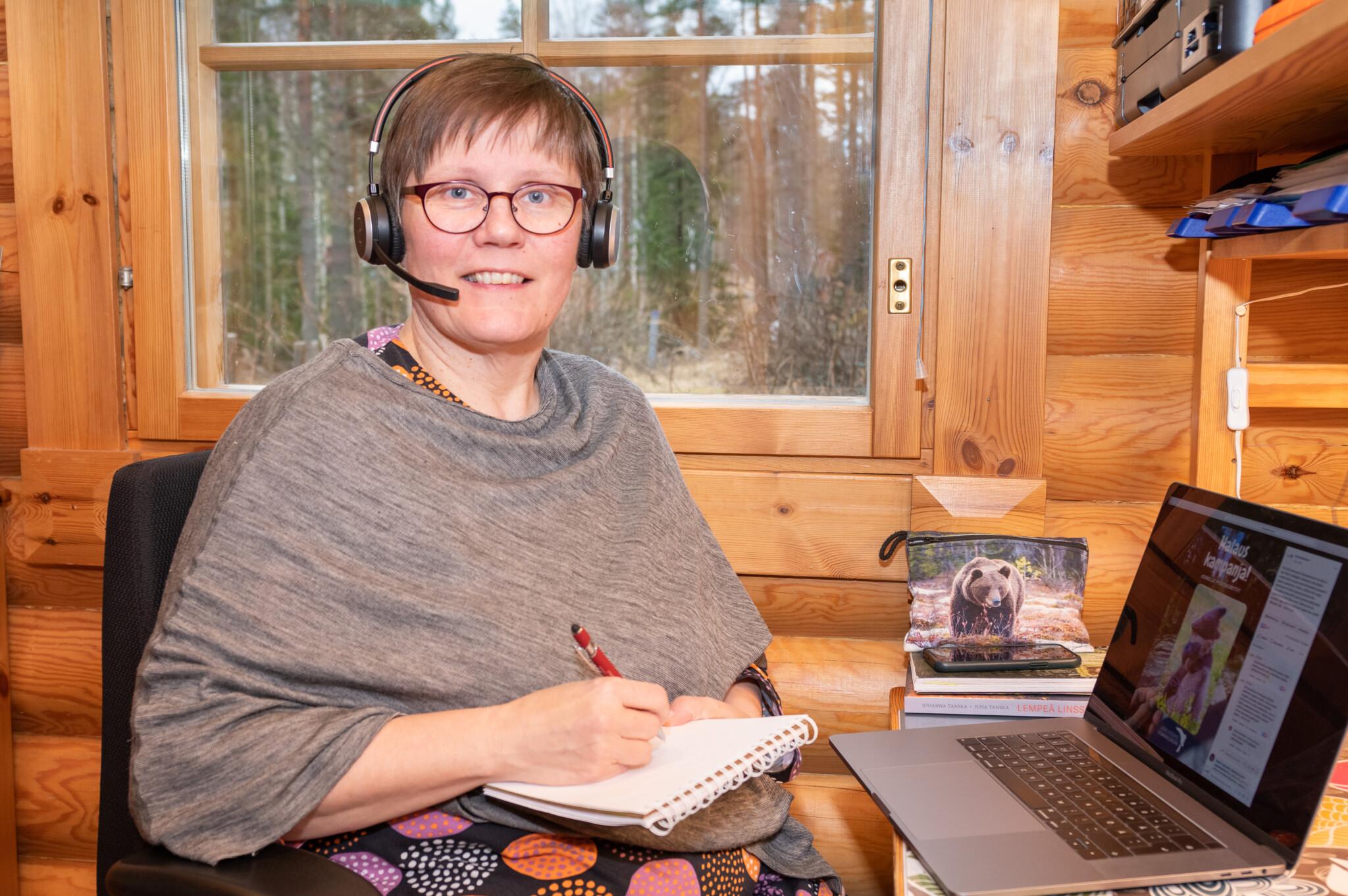 Koronakevään etätyöt työnohjaaja Leena Aijasaho