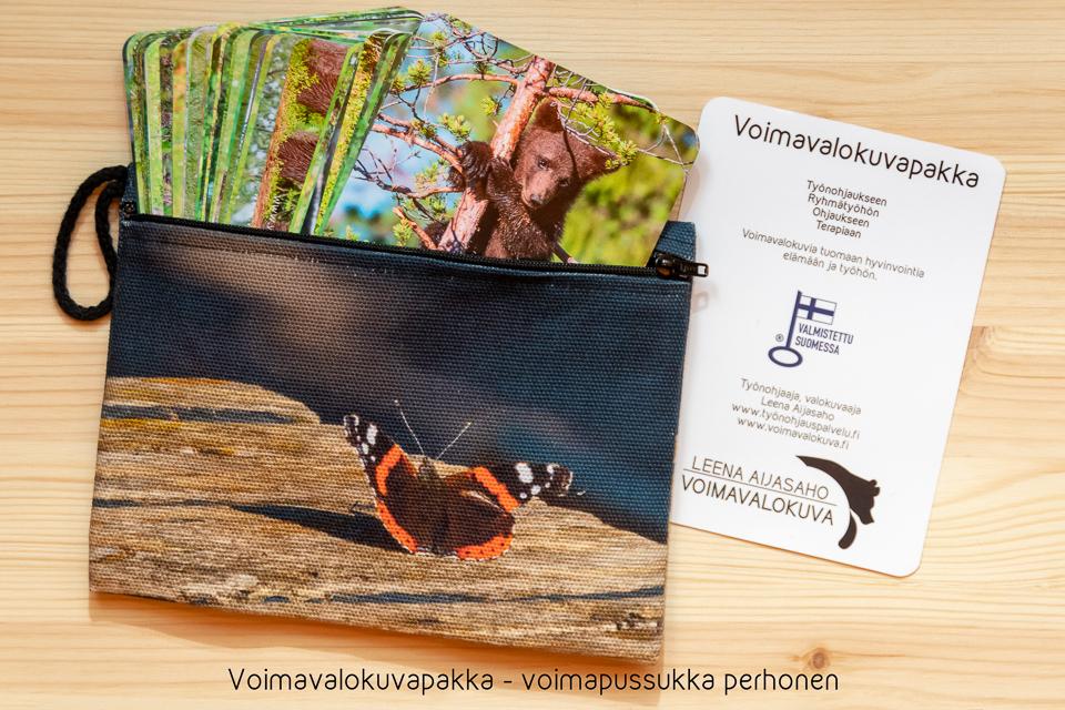Voimavalokuvapakka, karhukortit työnohjaaja Leena Aijasaho